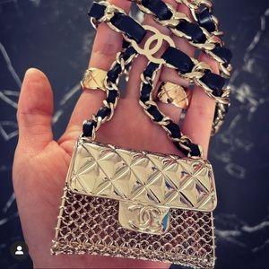 Chanel metal &imitation pearl cuff bracelet jewlry
